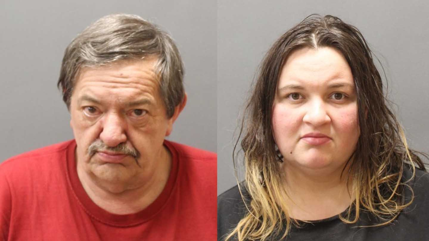 Joseph Lombardy and Samantha Gooslin face charges after police seized crack cocaine, heroin and edible marijuana from a home in Moosup. (Plainfield police)