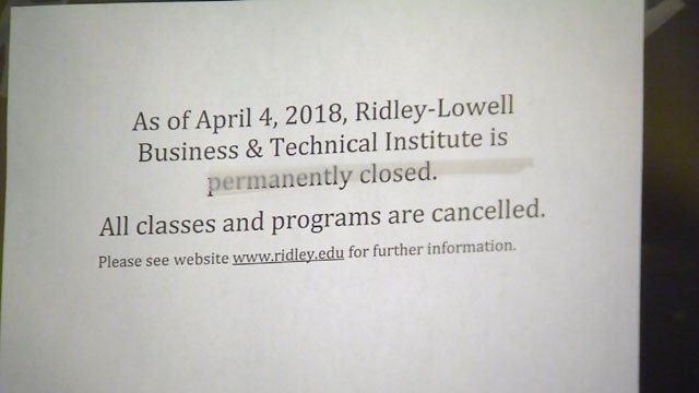 Students found this letter posted to the door of the Ridley-Lowell Institute on Wednesday (WFSB)