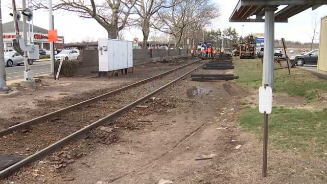 An investigation is underway after part of a train derailed in New Britain (WFSB)