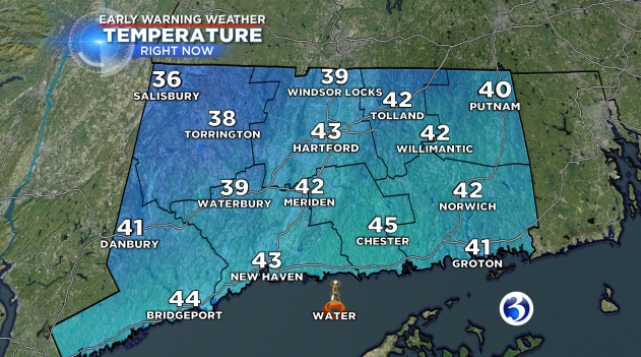 Cloudiness increases overnight making way for a cold Sunday (WFSB)