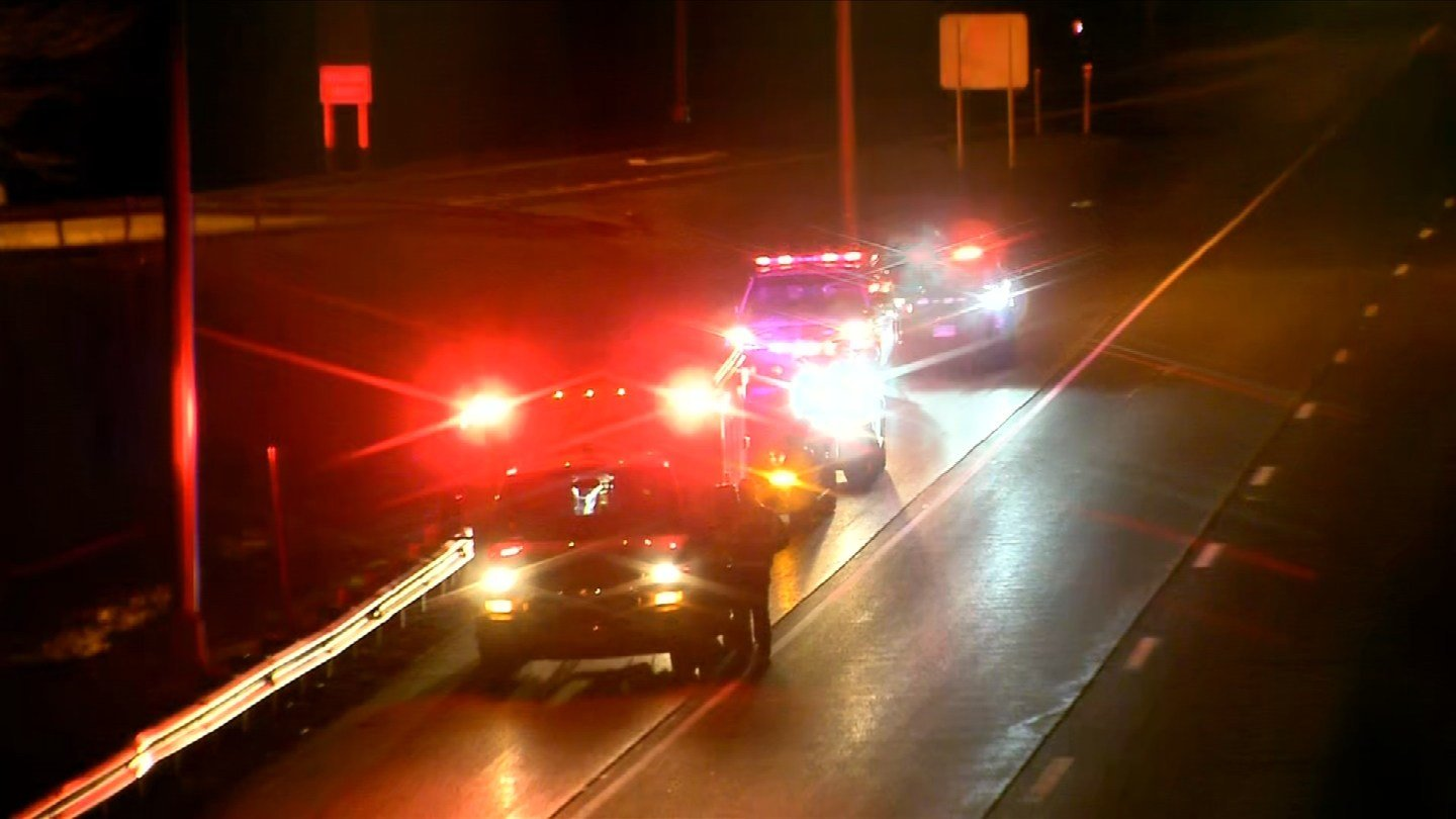 A woman went into labor along I-91 south in Rocky Hill on Monday morning. (WFSB)