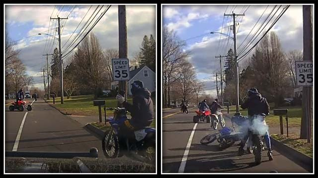 Police say these individuals led officers in a chase in North Haven (North Haven Police)