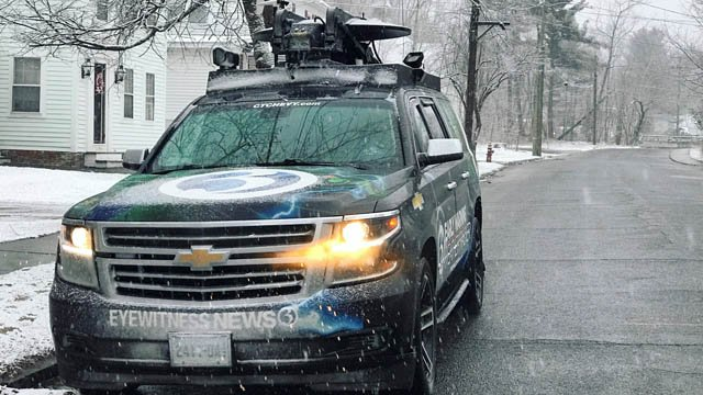 The Early Warning Weather Tracker took a look at the conditions in Winsted on Tuesday morning. (WFSB)