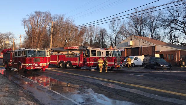 J. Used Appliances in Hartford experienced damage during an overnight fire. (WFSB)