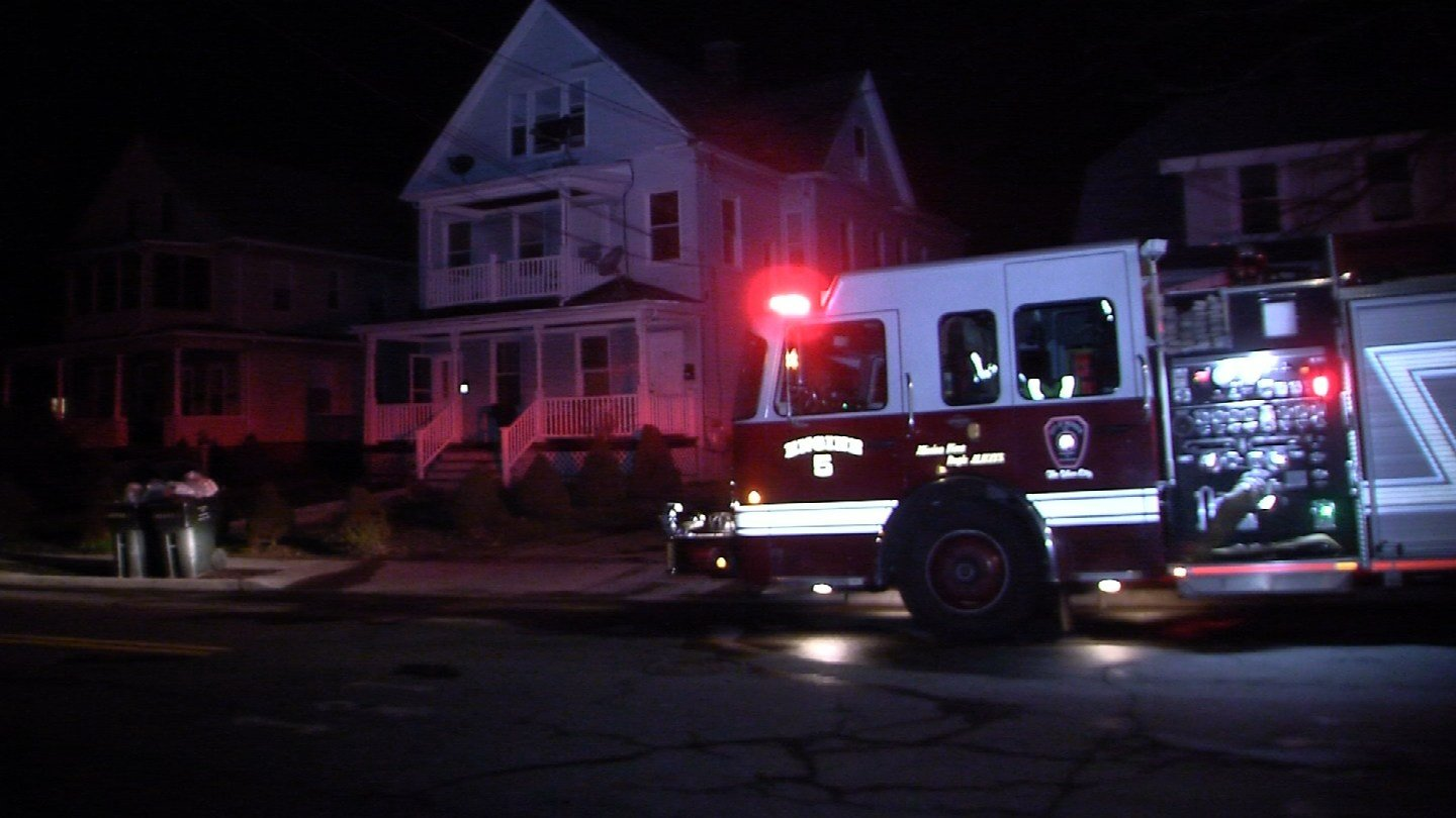 A house fire left one person hurt and forced out 12 others on Atkins Street in Meriden Tuesday night. (WFSB)