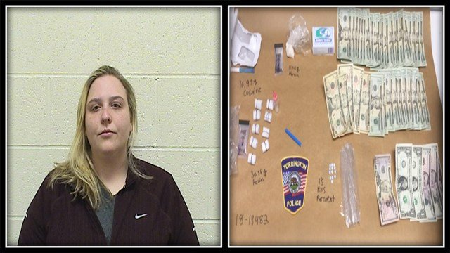 Andrea Persechino was arrested for possession of narcotics after a traffic stop (Torrington Police)