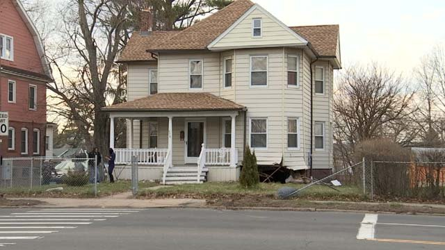 The car crashed into the home's basement (WFSB)