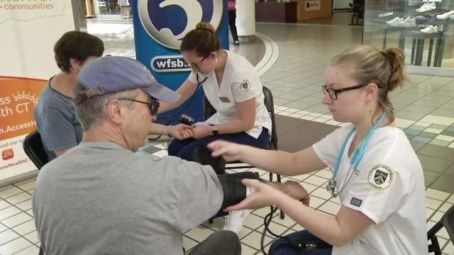 Free health screenings were held at Meriden's Westfield Mall on Thursday (WFSB)