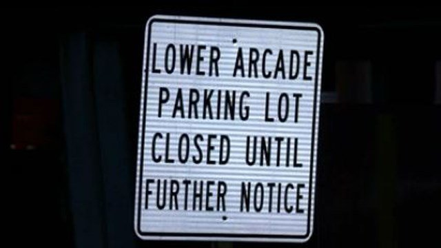 Parking lot closure is creating issues for businesses in Middletown (WFSB)
