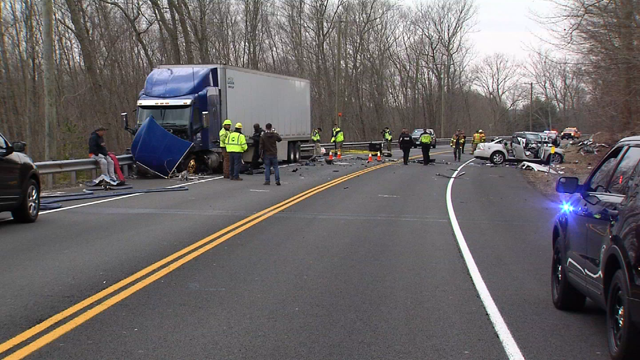 A child was injured after a serious head-on crash in Coventry (WFSB photo)