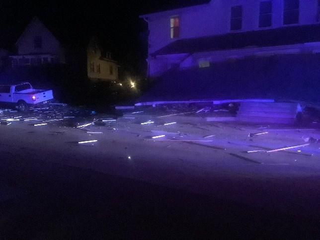 Damage left behind after a truck hit a home in Putnam (Putnam Police Dept.)