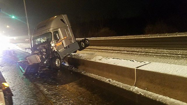 A crash involving a tractor trailer happened on Interstate 91 near exit 38. (iWitness)