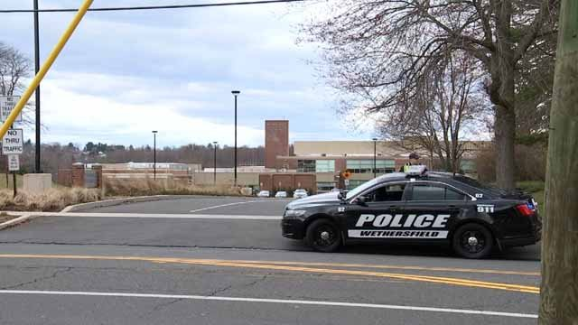 Wethersfield High School was dismissed early due to a strange odor on Tuesday (WFSB)