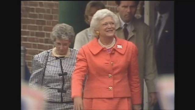 Former First Lady Barbara Bush (WFSB)