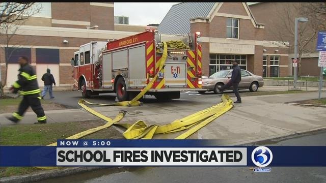 Video: Student allegedly set fires in Hartford school bathrooms