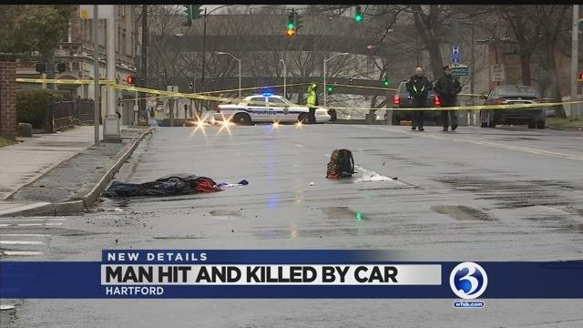 Video: Man dies after being hit by car in Hartford