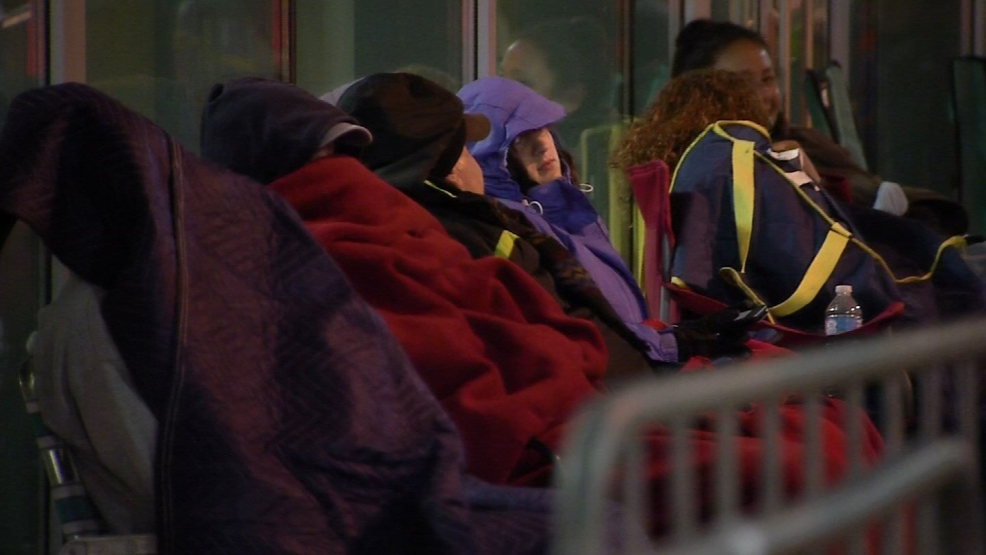 Patients began lining up overnight in anticipation of the CT Mission of Mercy at Torrington High School. (WFSB)