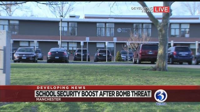 VIDEO: Graffiti threat in 2 bathrooms prompts more security at Manchester school