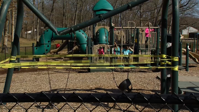 A wind storm damaged a local playground (WFSB)