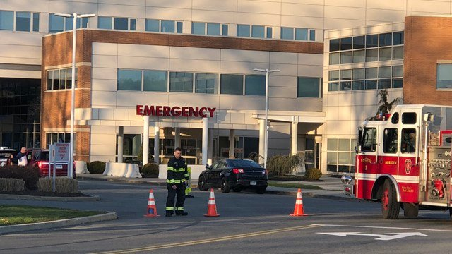 White substance was brought into Midstate Medical Hospital (WFSB Photo)