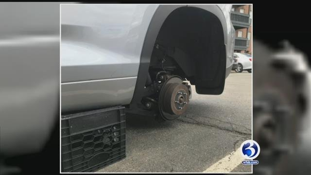 Video: West Hartford residents fall victim to tire thefts