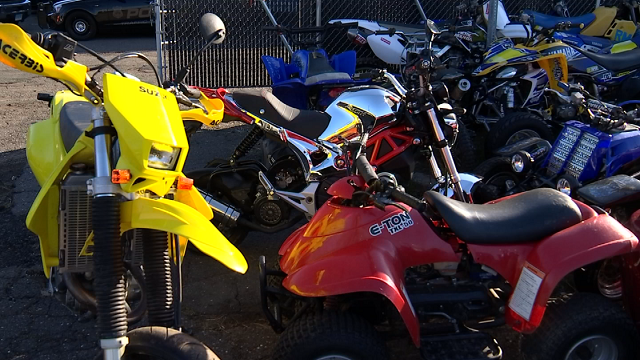 Police said they made 10 arrests and seized 16 dirtbikes and ATVs, as well as a U-Haul truck and a pick-up truck. (WFSB)