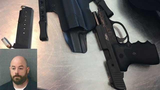 The .40 caliber Sig Sauer firearm was loaded, TSA officials said (TSA image)