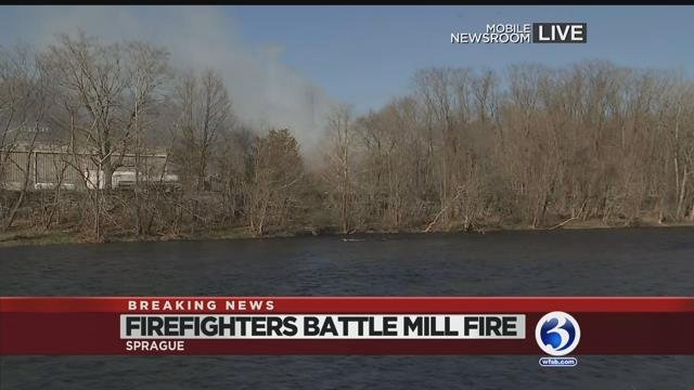 Video: Smoke from Baltic mill fire can be seen for 20 miles