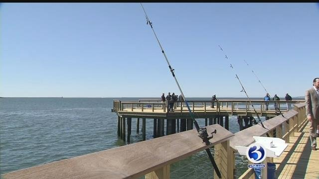 Video: New Haven pier destroyed by tropical storm gets renovation