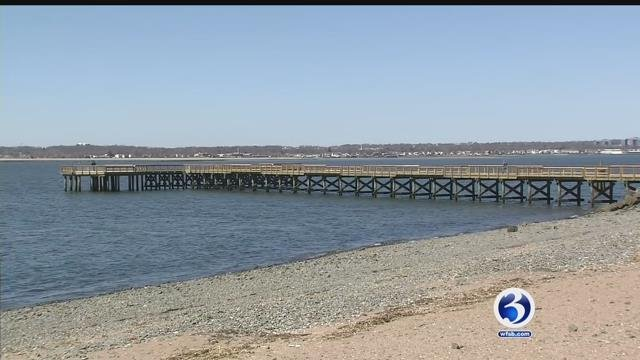 The renovated Fort Hale pier (WFSB)