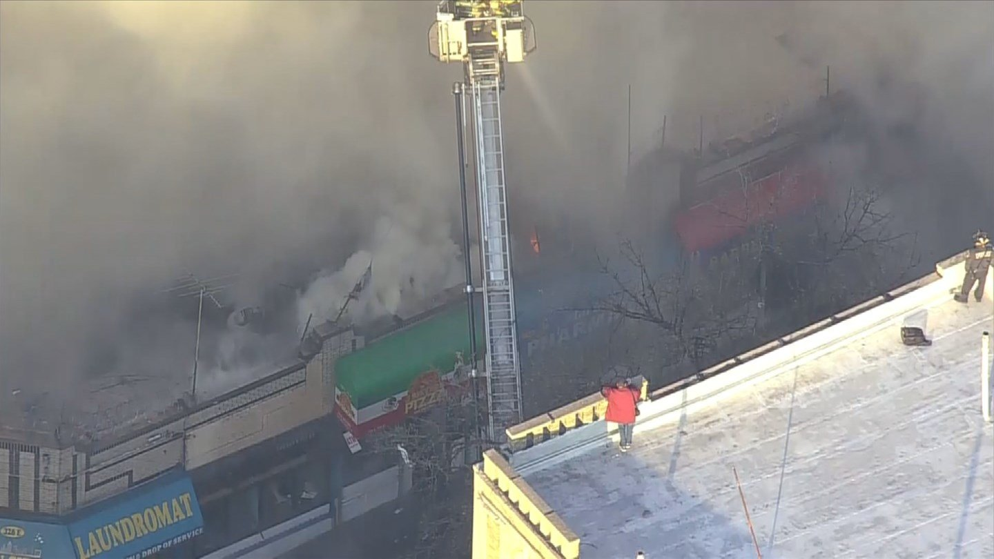 Firefighters fought a building fire on 149th Street in the Bronx on Tuesday morning. (CBS)