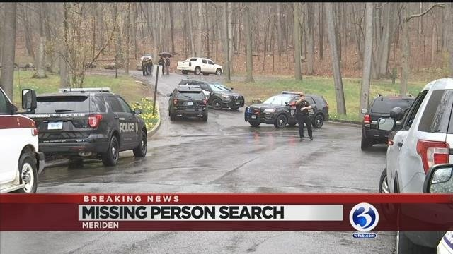 Video: Police search Meriden's Hubbard park for missing man