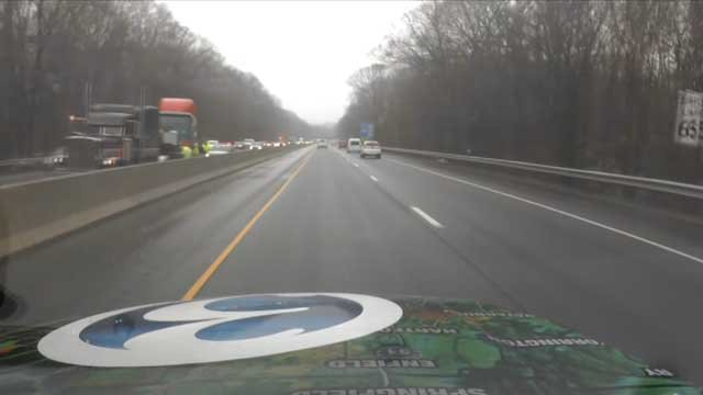 The camera on the Early Warning Weather Tracker spotted the crash on I-95 (WFSB)