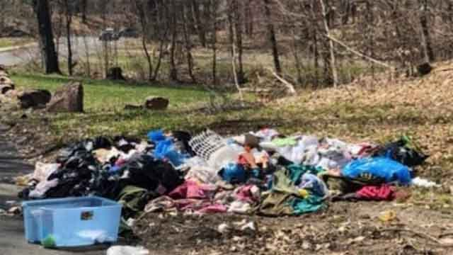 Police arrested a man after finding this mess in the north end (Hartford Department of Public Works)