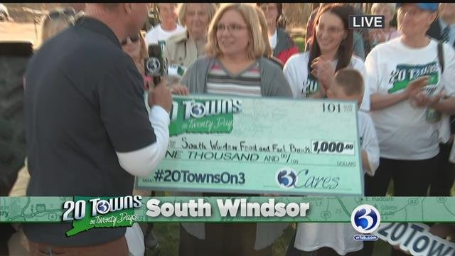 Video: Ch. 3 donates to South Windsor Food and Fuel Bank
