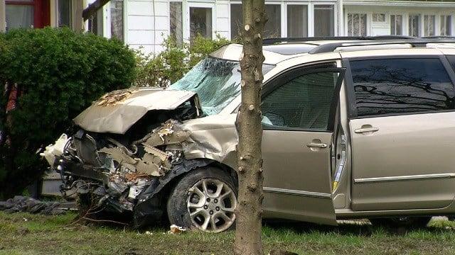 Barreto's stolen car struck a home (WFSB)