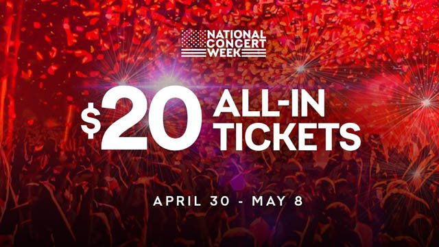 $20 Tickets Offered During National Concert Week