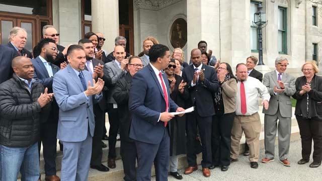 Emmanuel Sanchez announces his run for the 5th district (WFSB)