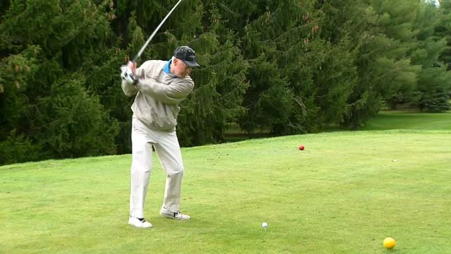 Golfers hit the links early Tuesday morning ahead of a beautiful day (WFSB)