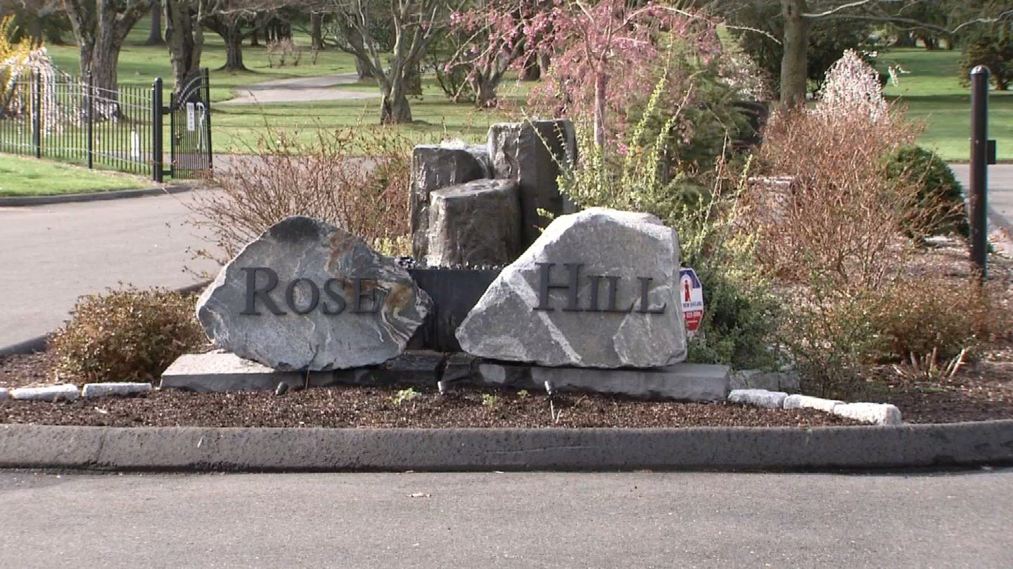 Rose Hill Cemetery in Rocky Hill said it will not budge on the issue of a grave marker size. (WFSB)