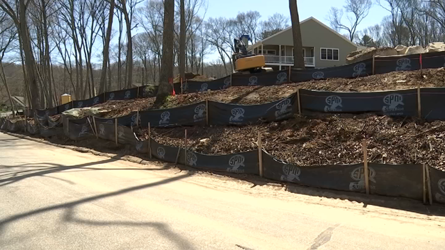 Gales Ferry homeowners are concerned over runoff from a construction site (WFSB)