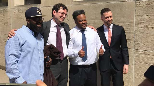 A New Haven man is finally free after spending 10 years behind bars for a crime he didn't commit. (WFSB)