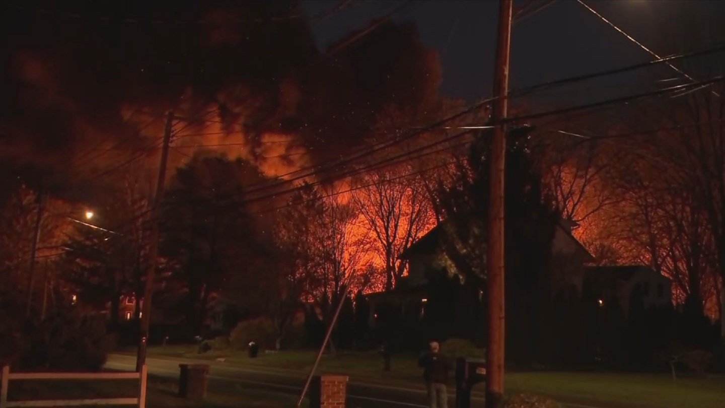 A hostage situation and barn explosion on Quinnipiac Avenue in North Haven injured nine officers Wednesday night. (WFSB)