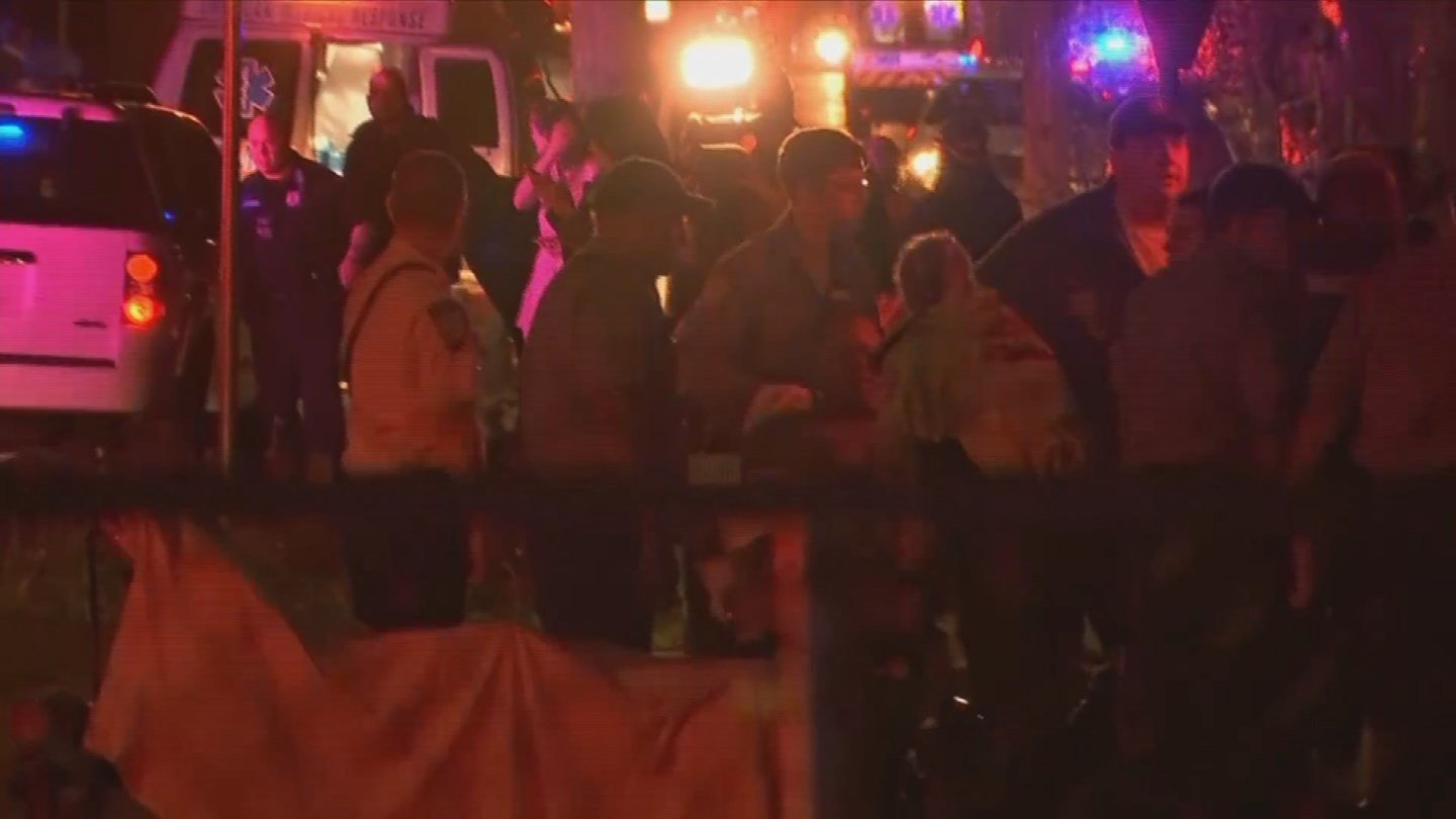 Neighbors called it a chaotic scene after a standoff situation and barn explosion on Quinnipiac Avenue in North Haven Wednesday night. (WFSB)