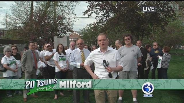 David vistited the coastal town of Milford for 20 Towns in Twenty Days (WFSB)