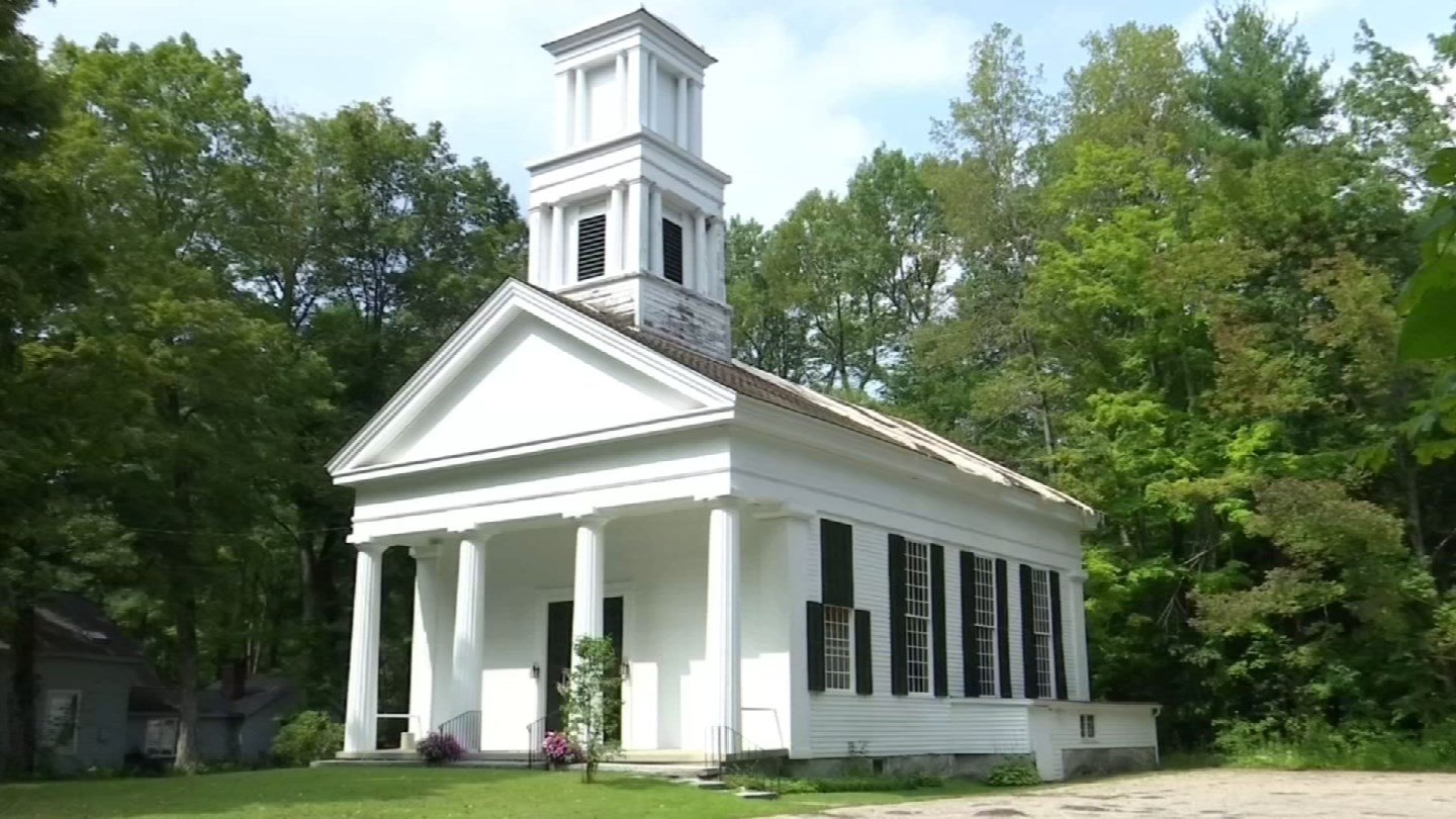 The First Congregational Church of Barkhamsted is set to reopen next month. (WFSB)