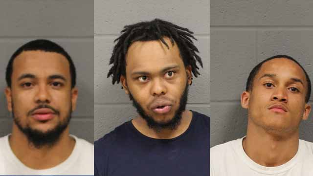 Police said these three are accused of firing paintballs at a man mowing his lawn (New Britain PD)