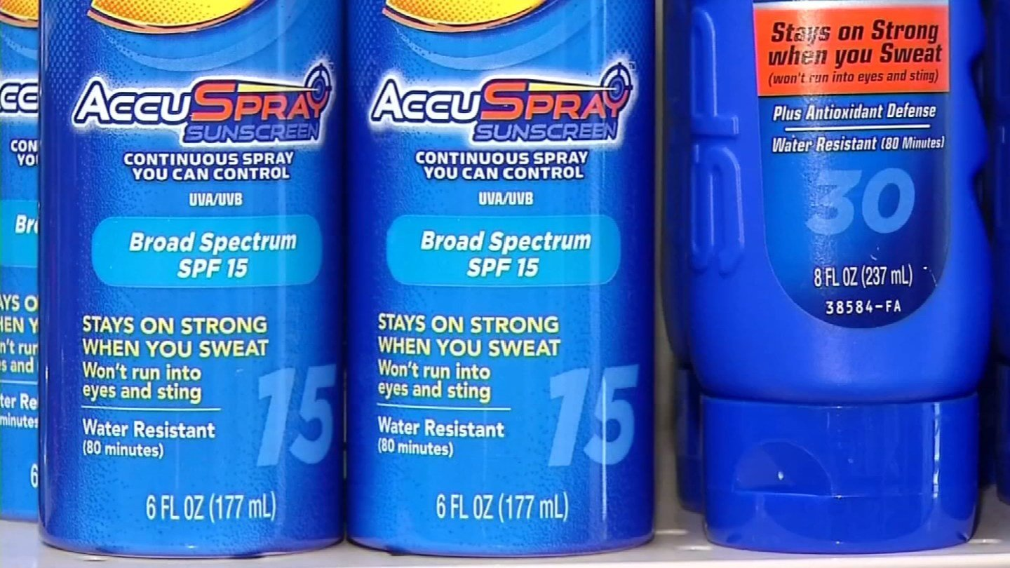 A local mom is looking to change a current sunscreen law for schools (WFSB)