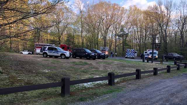 Emergency crews were called to Enders State Forest in Granby (WFSB)
