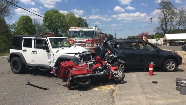 Four people were taken to the hospital after a crash in East Windsor (East Windsor Police)